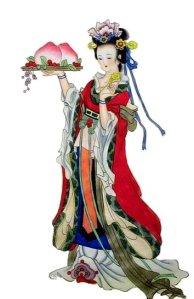 Dibujo de una mujer china